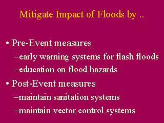 Mitigate Impact of Floods by