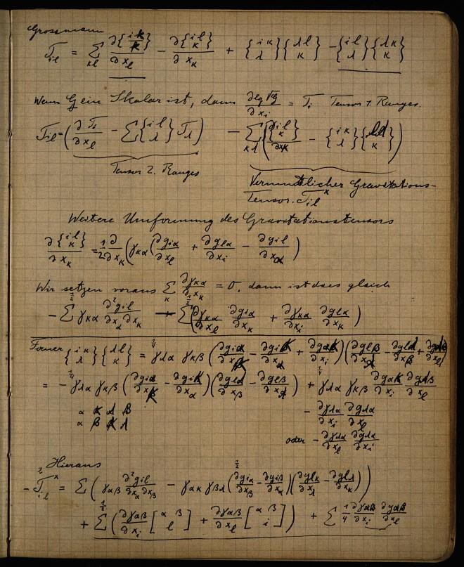 Einstein S Zurich Notebook
