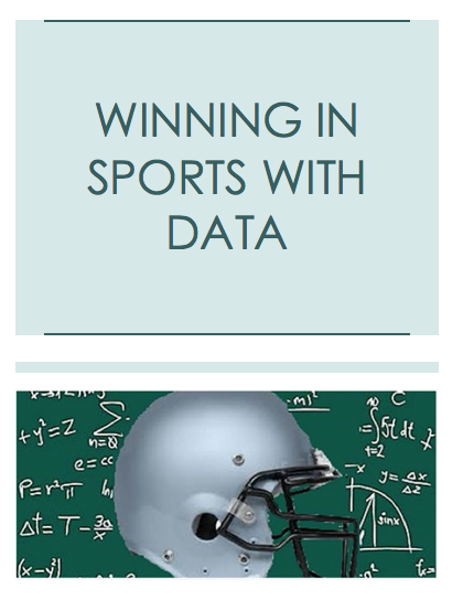 Winning in Sports with Data