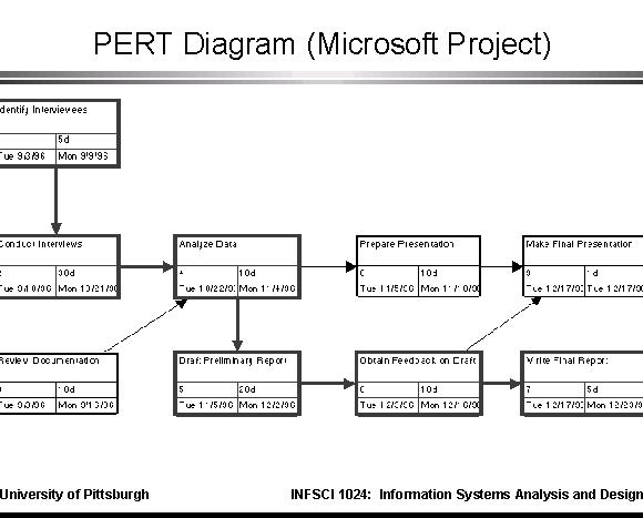 pert diagram  microsoft project