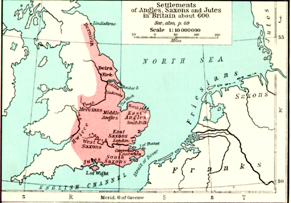 Map Of England 800.Intro To Beowulf