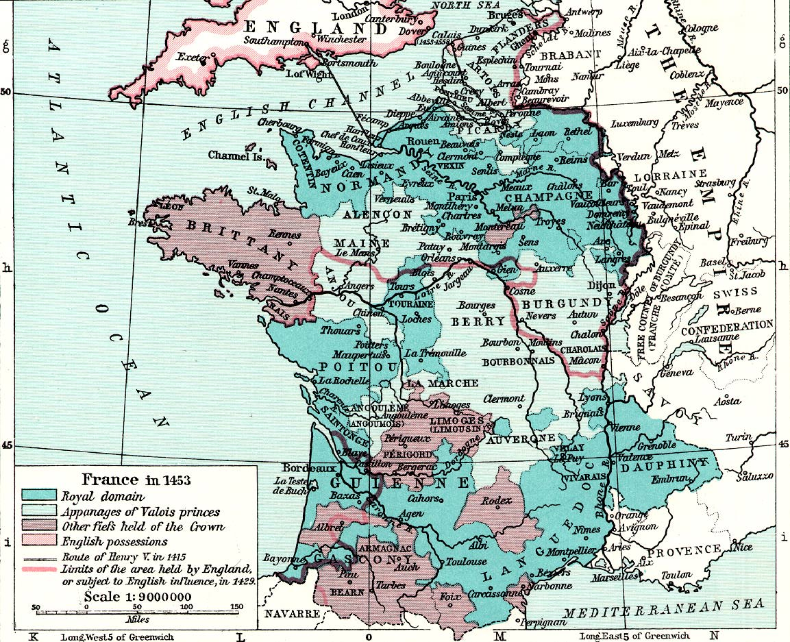 Medieval france maps home page france in 1453 gumiabroncs Choice Image