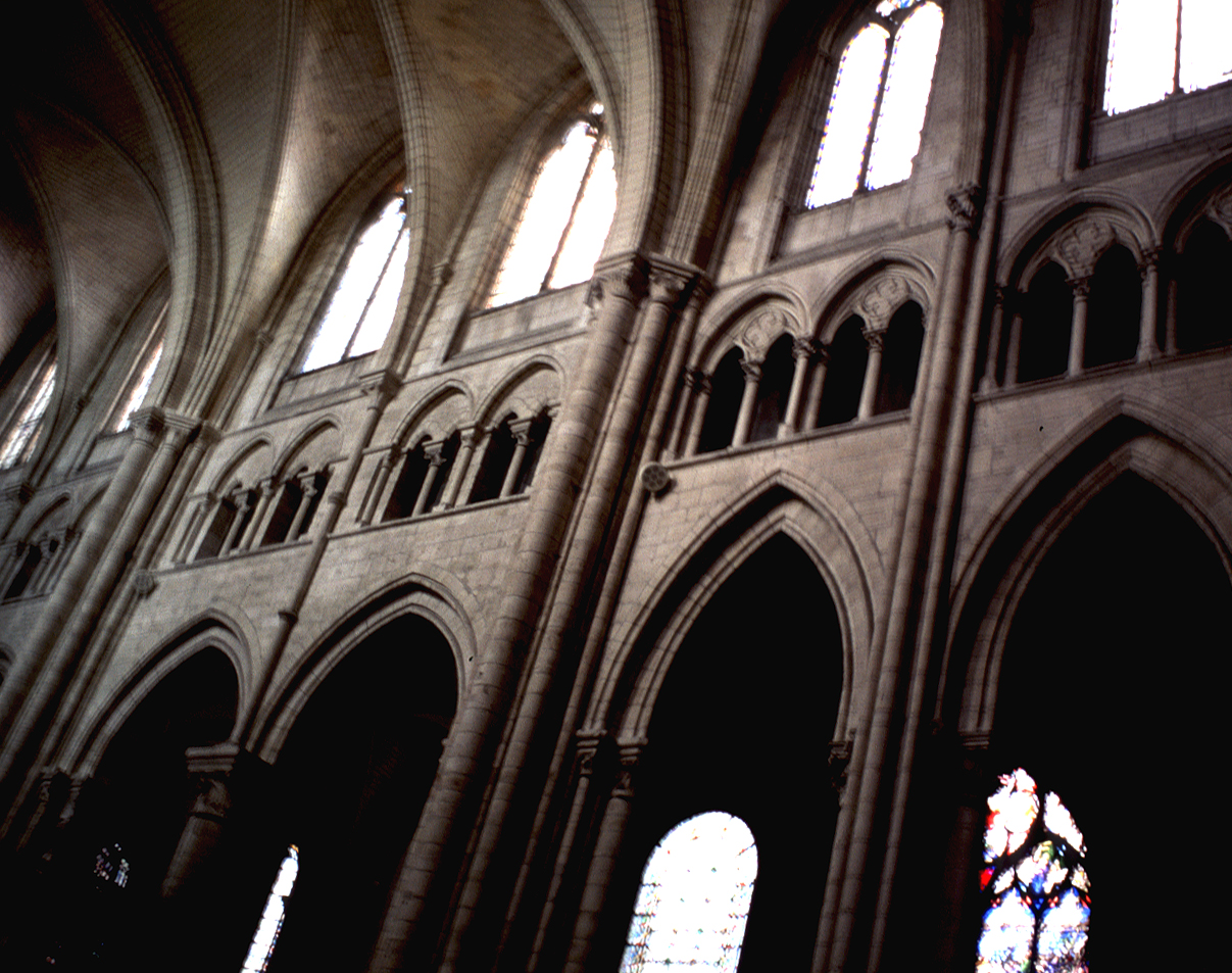 MEDIEVAL SENS-Interior of the Cathedral of Saint -Étienne