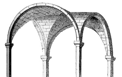 Glossary of medieval art and architecture groin vault for Groin vault pictures
