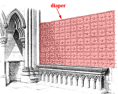 Modern Architecture Glossary glossary of medieval art and architecture:diaper