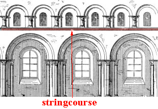 glossary of medieval art and architecture:stringcourse
