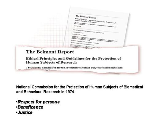 What Are The Three Ethical Principles Outlined In The Belmont Report