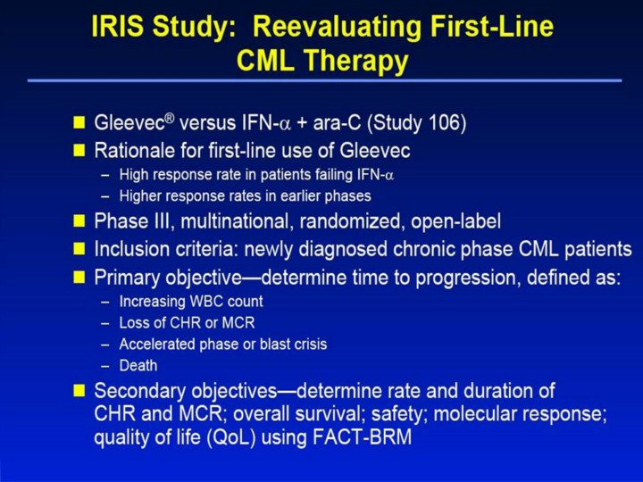 Gleevec, the targeted cancer pill, delivers more good news ...