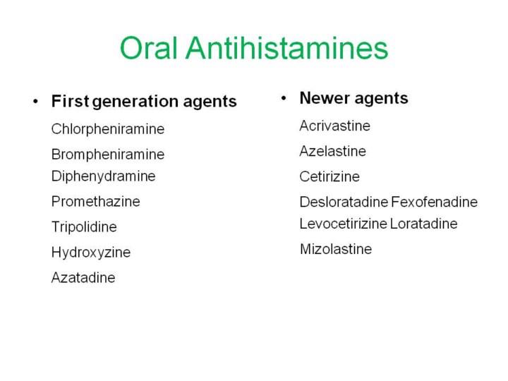 Cetirizine sedating