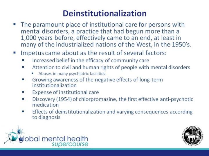psychiatry and deinstitutionalization