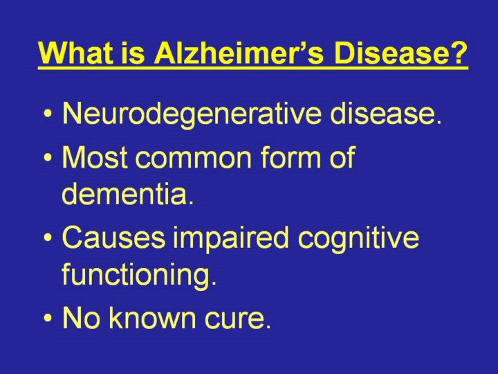 what is alzheimers disease essay