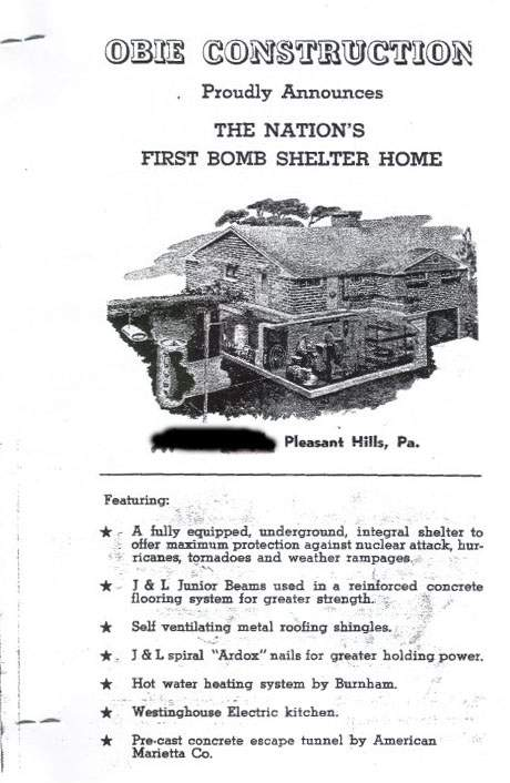 Nations first fallout shelter Pleasant Hills